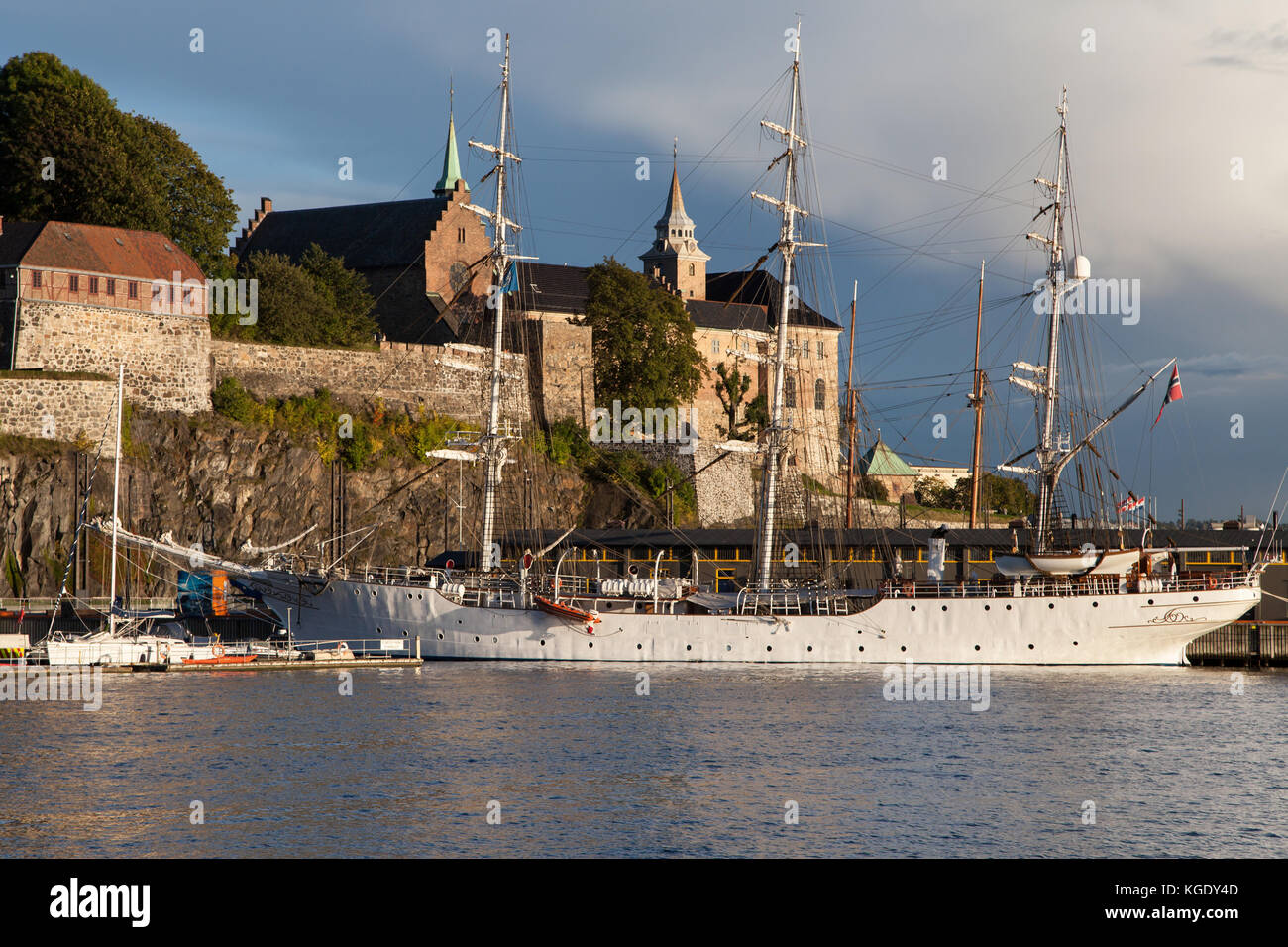 Akershus Fortress in Oslo, Norway. - Stock Image