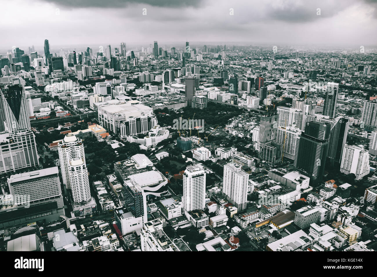 Beyond that skyline lies another undiscovered world - Stock Image