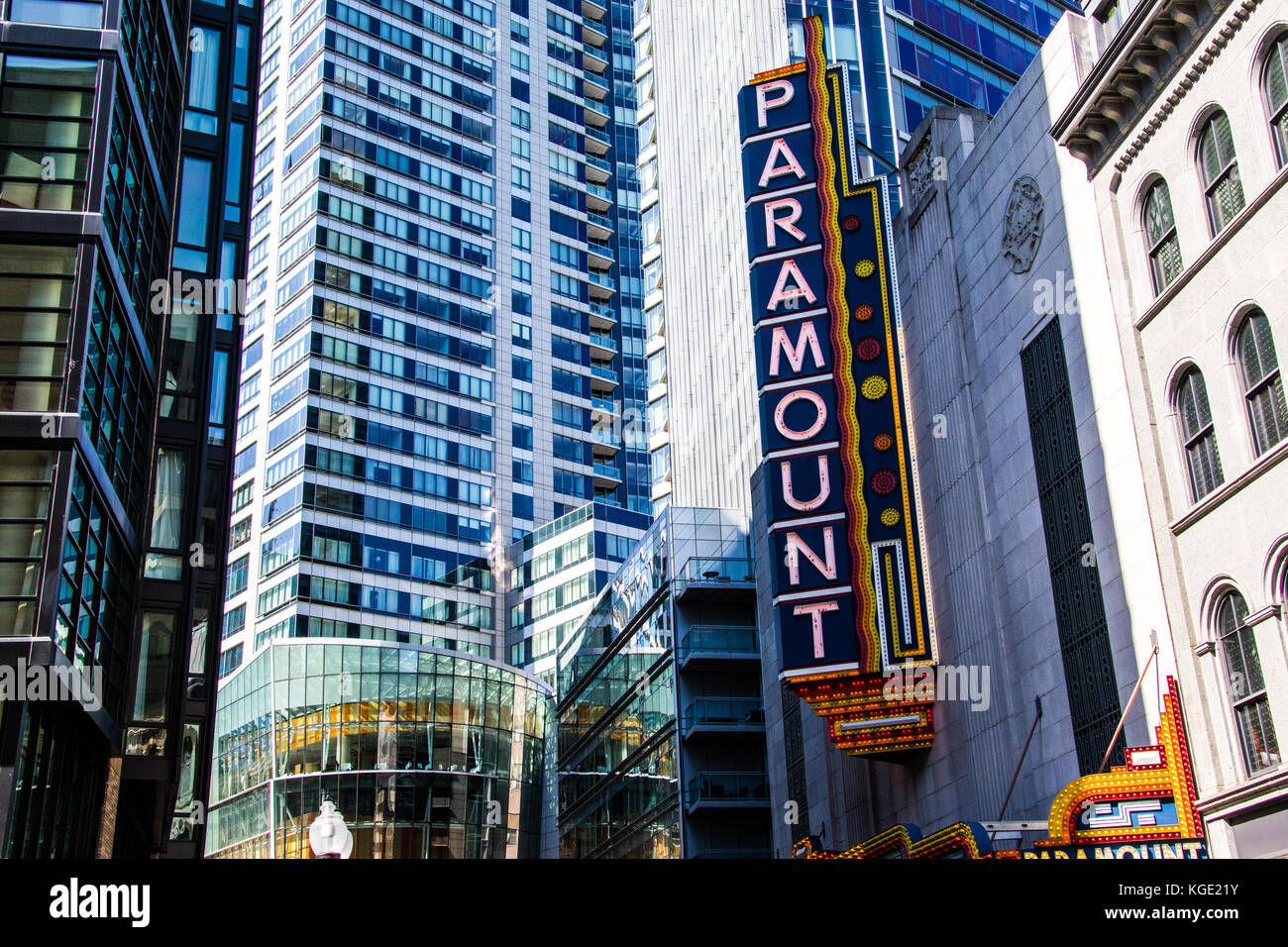 The Paramount Theatre in downtown Boston, MA, USA - Stock Image