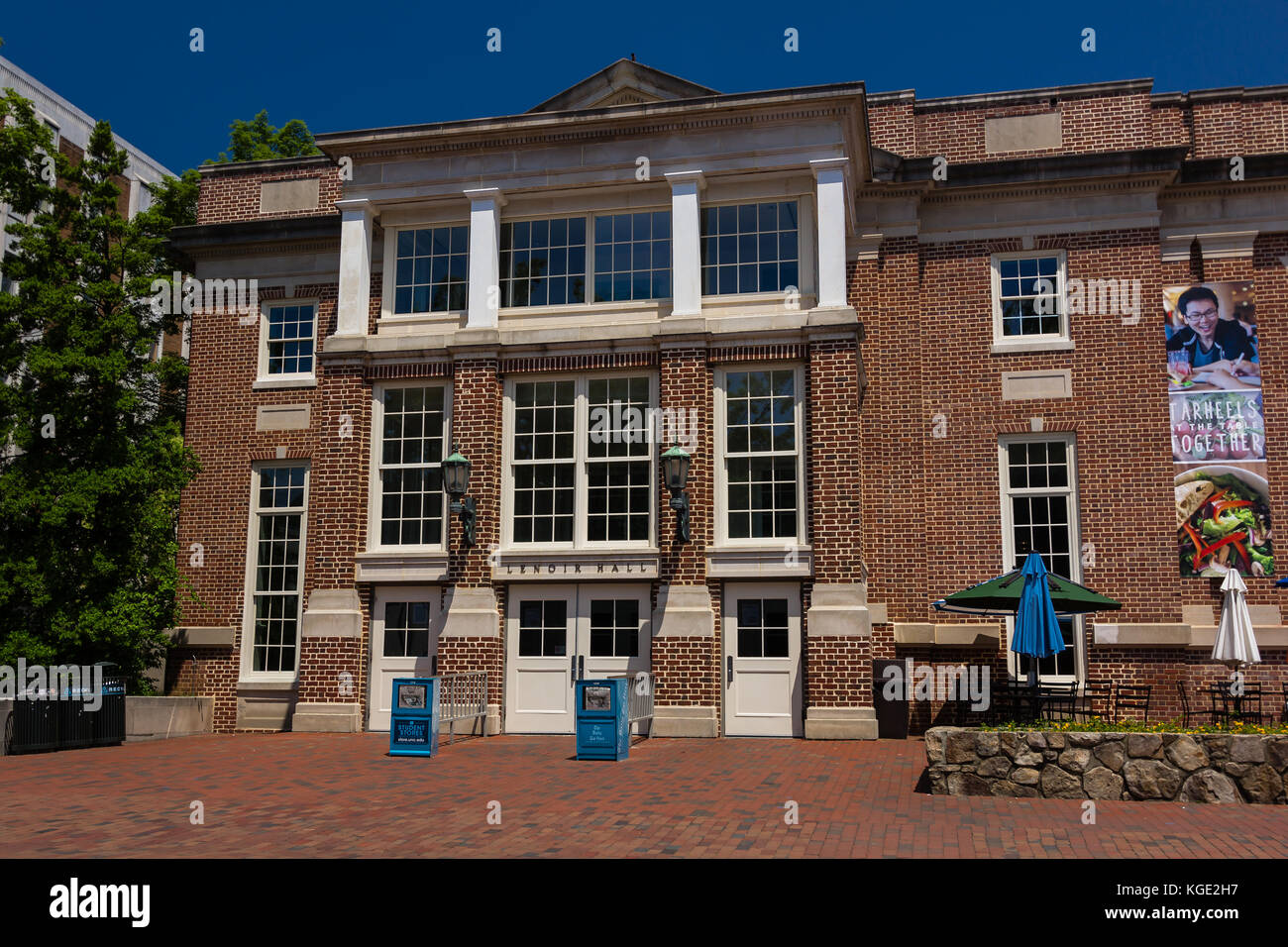 Lenoir Hall at the University of North Carolina at Chapel Hill in Chapel Hill, North Carolina.  Built in 1939. - Stock Image