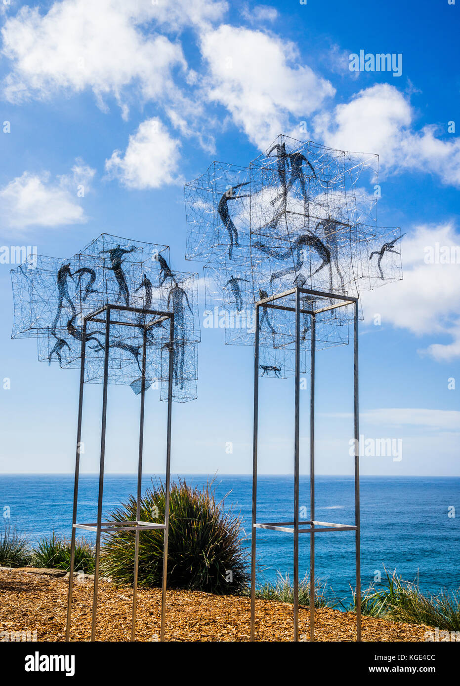 Sculpture by the sea 2017, annual exhibition on the coastal walk between Bondi and Tamara Beach, Sydney, New South - Stock Image