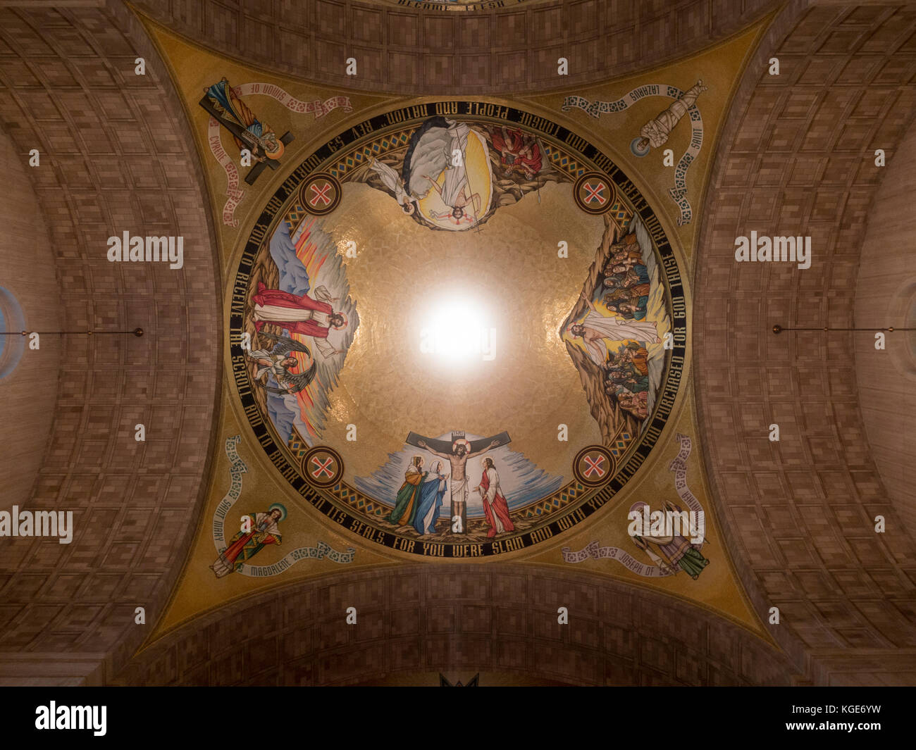 The Redemption Dome inside the Basilica of the National Shrine of the Immaculate Conception, Washington DC, United - Stock Image