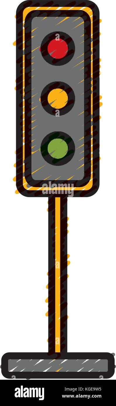Semaphore traffic lights Stock Vector