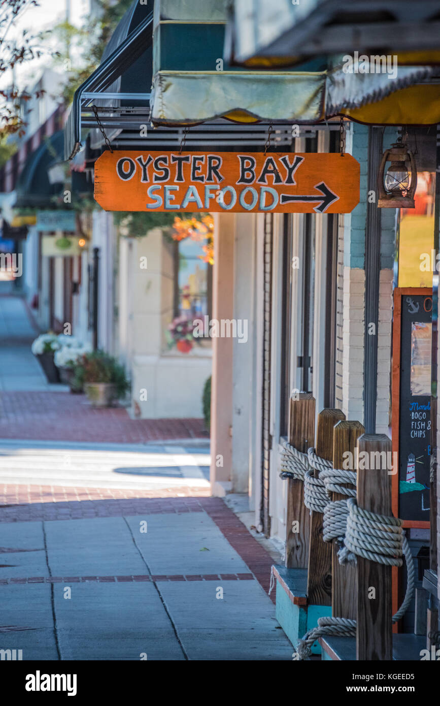 Oyster Bay Seafood on The Square in Historic Downtown Lawrenceville, Georgia. (USA)