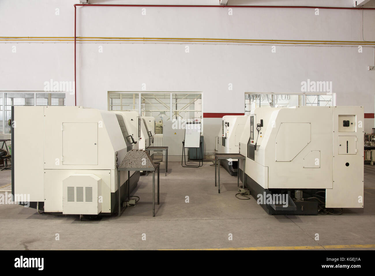 equipment and machines for cutting and processing of metal profiles - Stock Image
