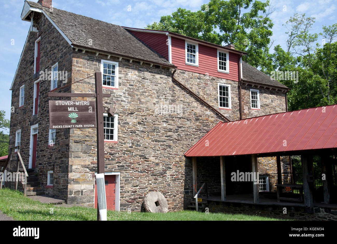 Stover-Myers Mill in Bucks County, Pennsylvanai - USA - Stock Image