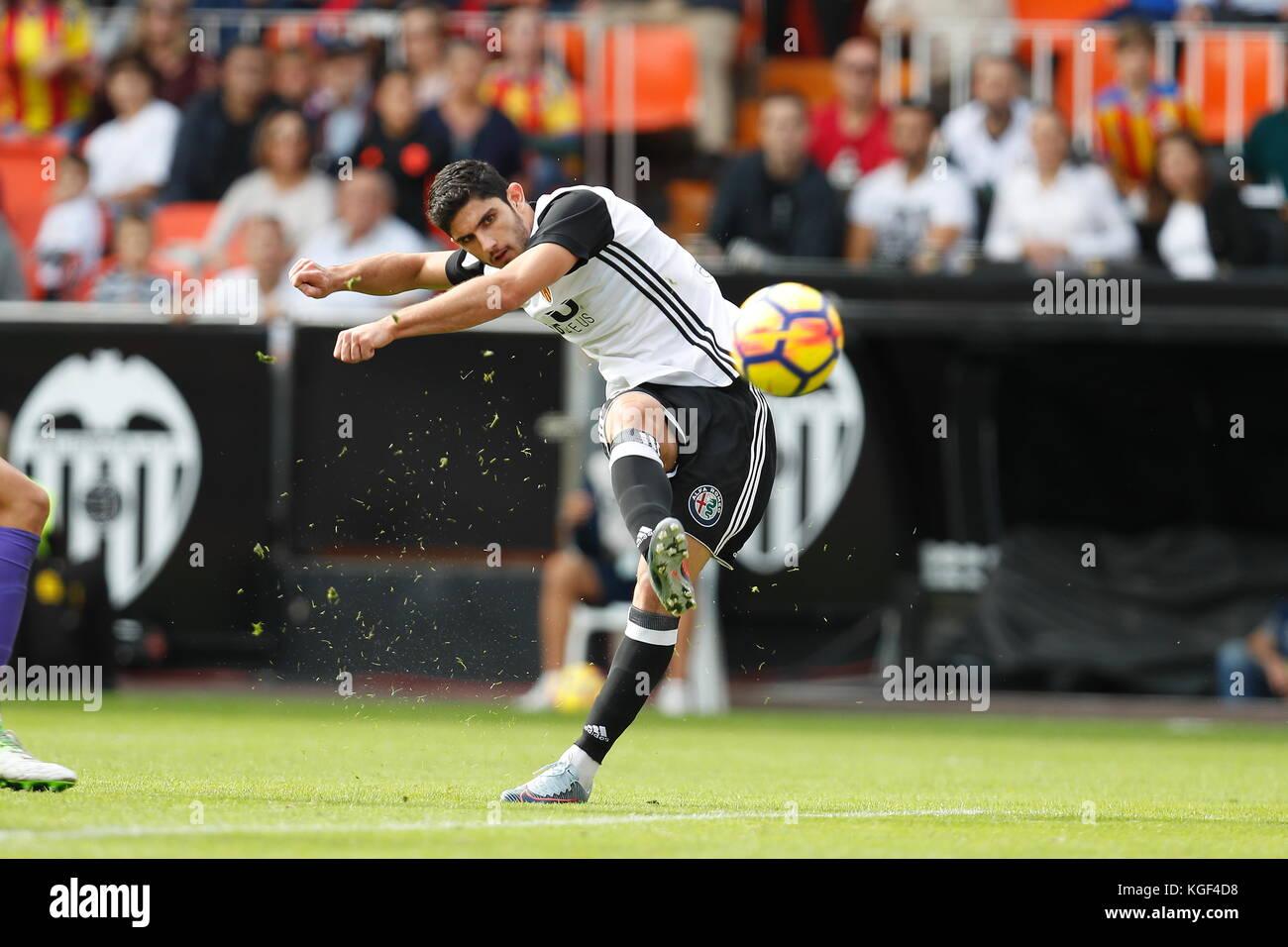Goncalo Guedes (Valencia), NOVEMBER 4, 2017 - Football / Soccer : Spanish 'La Liga Santander' match Valencia - Stock Image