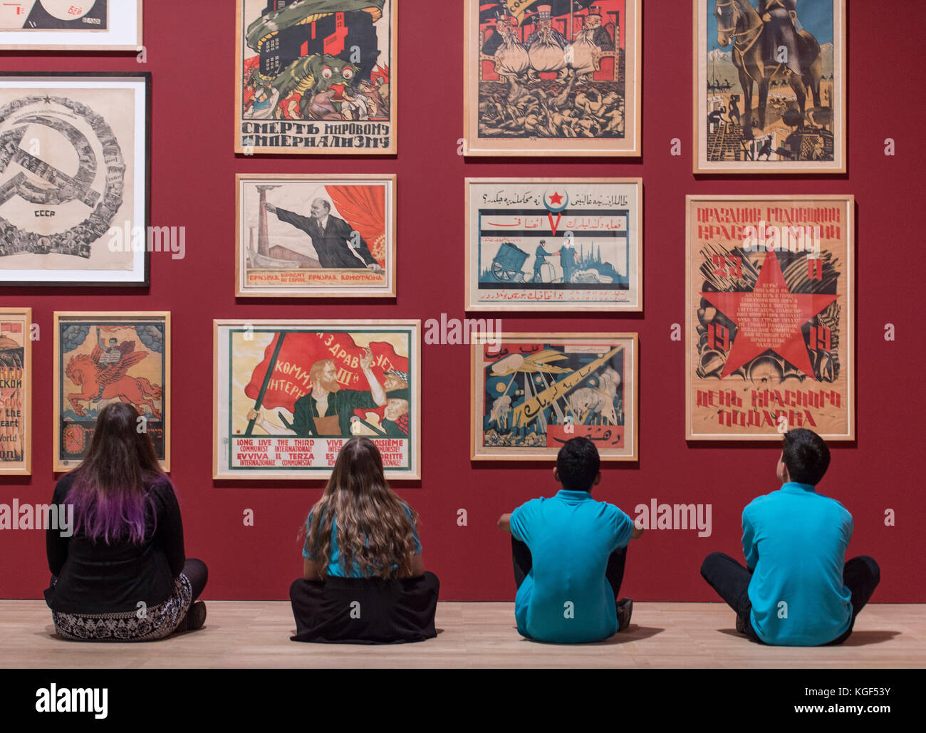 Tate Modern, London, UK. 7th Nov, 2017. Red Star Over Russia: A Revolution in Visual Culture 1905-55. Featuring Stock Photo