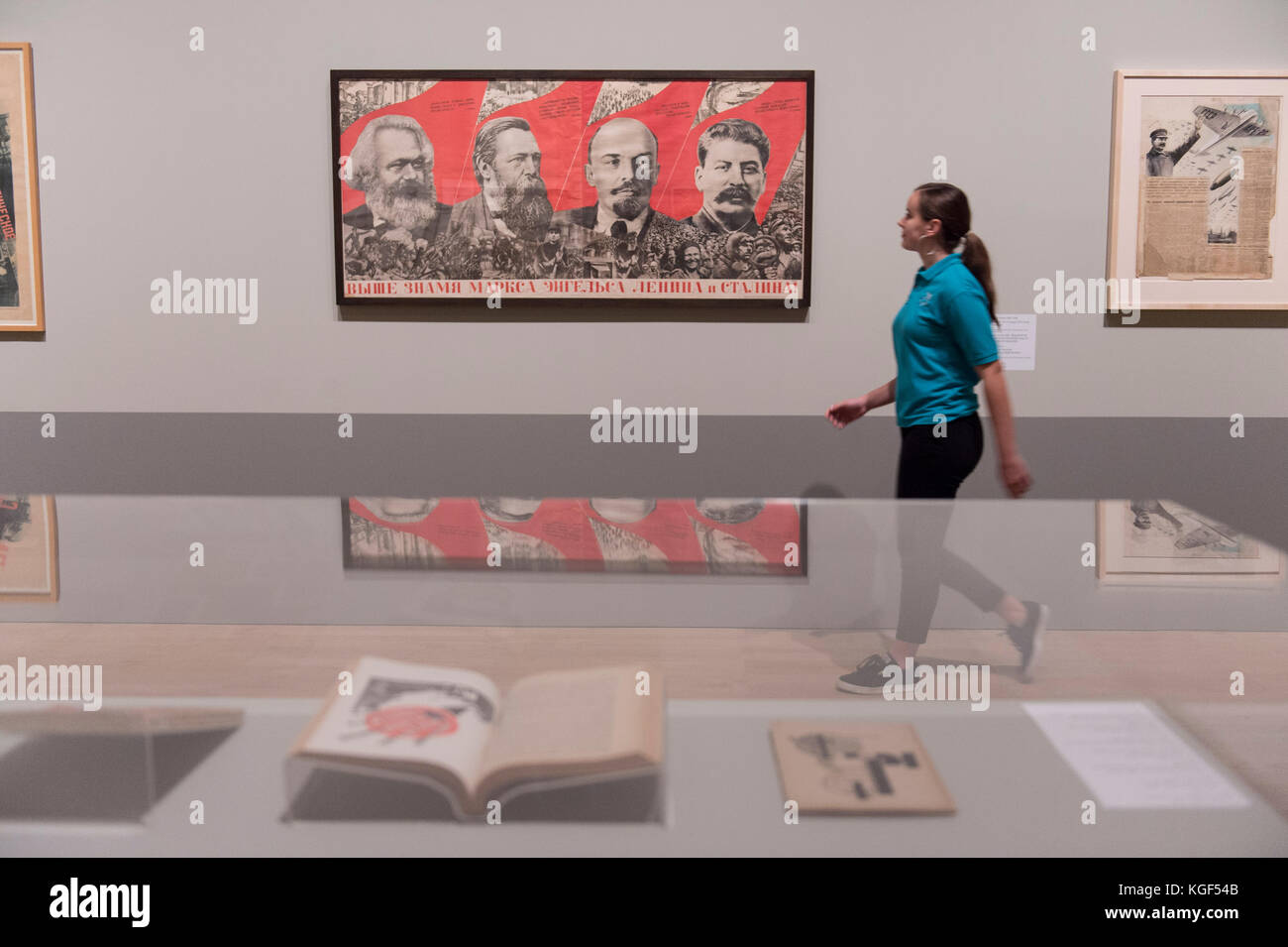 Tate Modern, London, UK. 7th Nov, 2017. Red Star Over Russia: A Revolution in Visual Culture 1905-55. Featuring - Stock Image