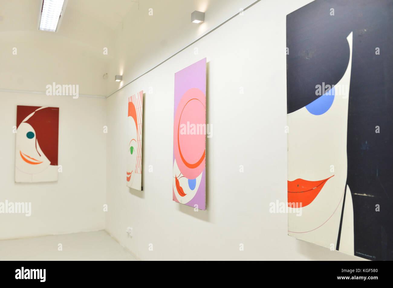 Pilsen, Czech Republic. 07th Nov, 2017. Gallery of Ladislav Sutnar prepares the exhibition named CXX LS on work - Stock Image