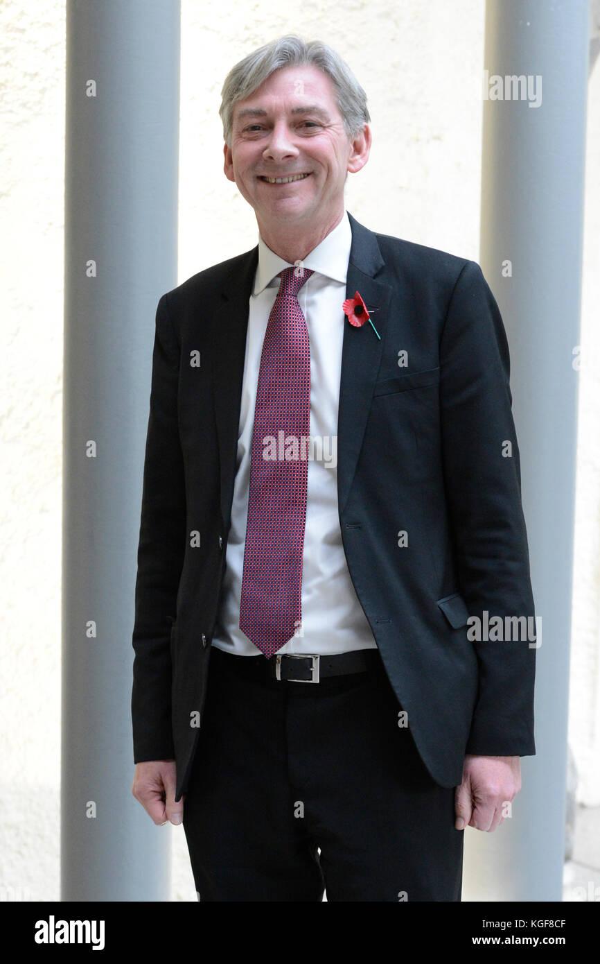 Edinburgh, Scotland, United Kingdom. 07th Nov, 2017. Scottish Labour leadership contender Richard Leonard MSP after - Stock Image