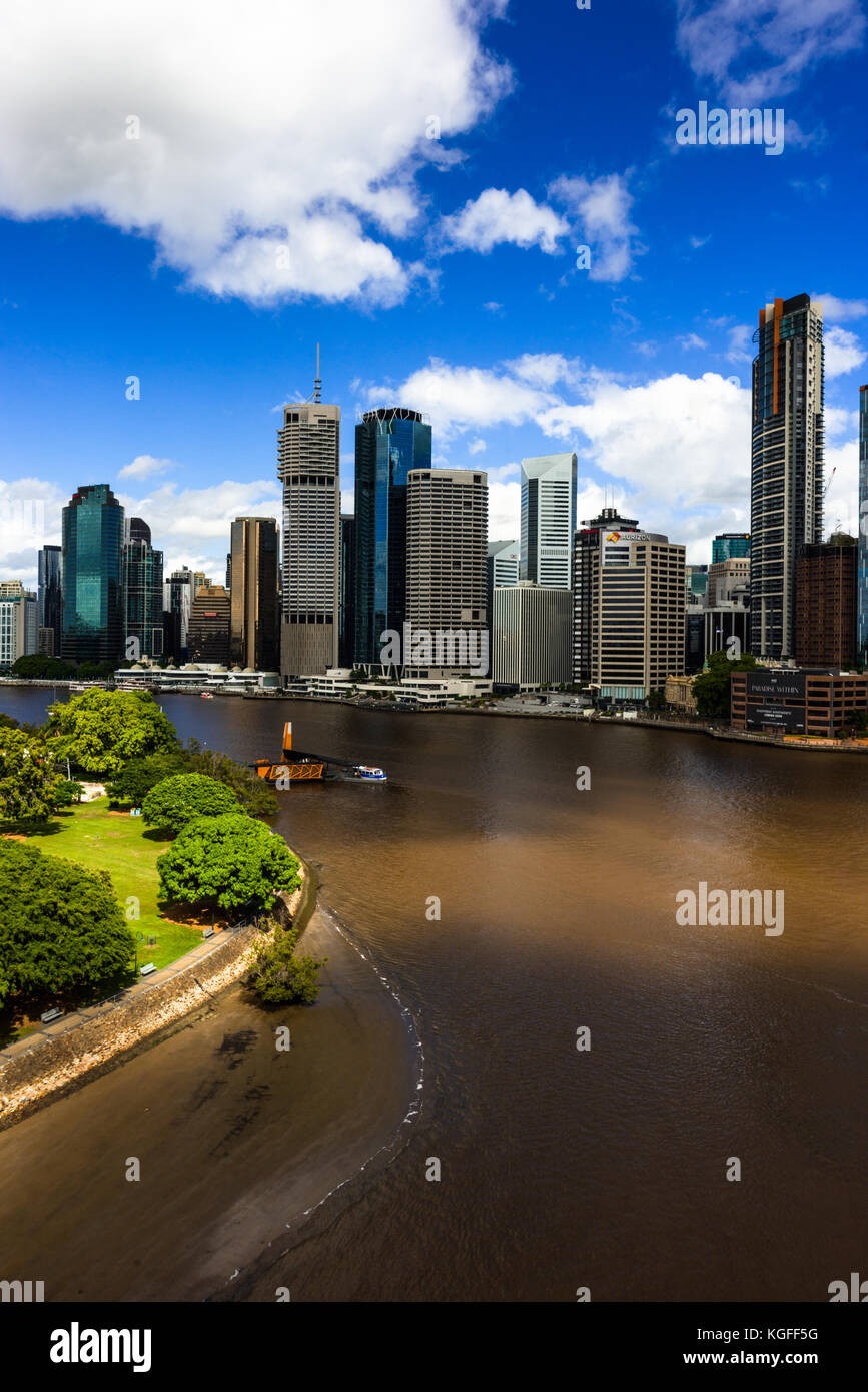 Brisbane city skyline. Queensland. Australia. - Stock Image