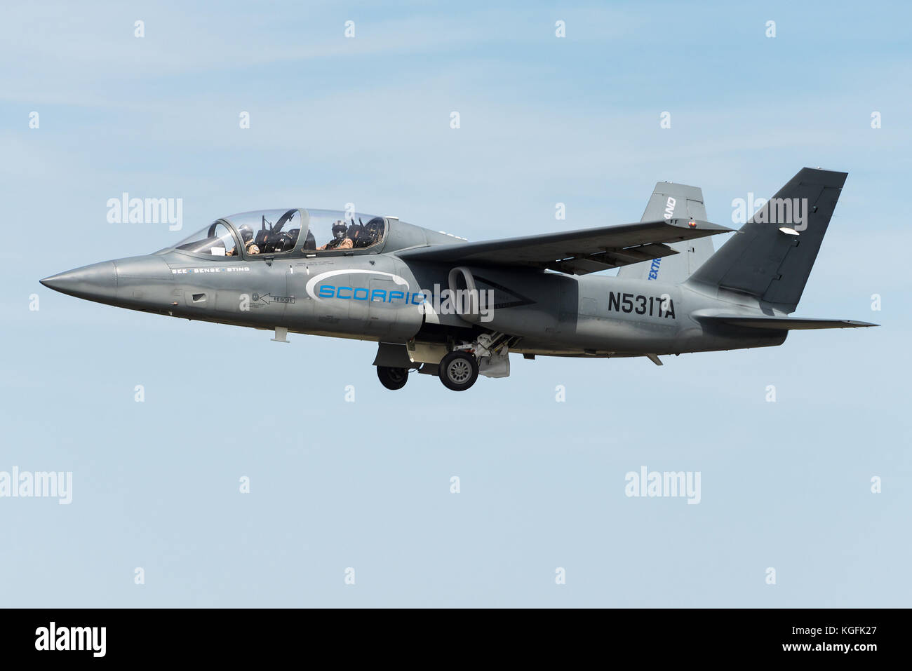 The Textron AirLand Scorpion light attack jet developed by Textron AirLand, a joint venture between Textron and - Stock Image