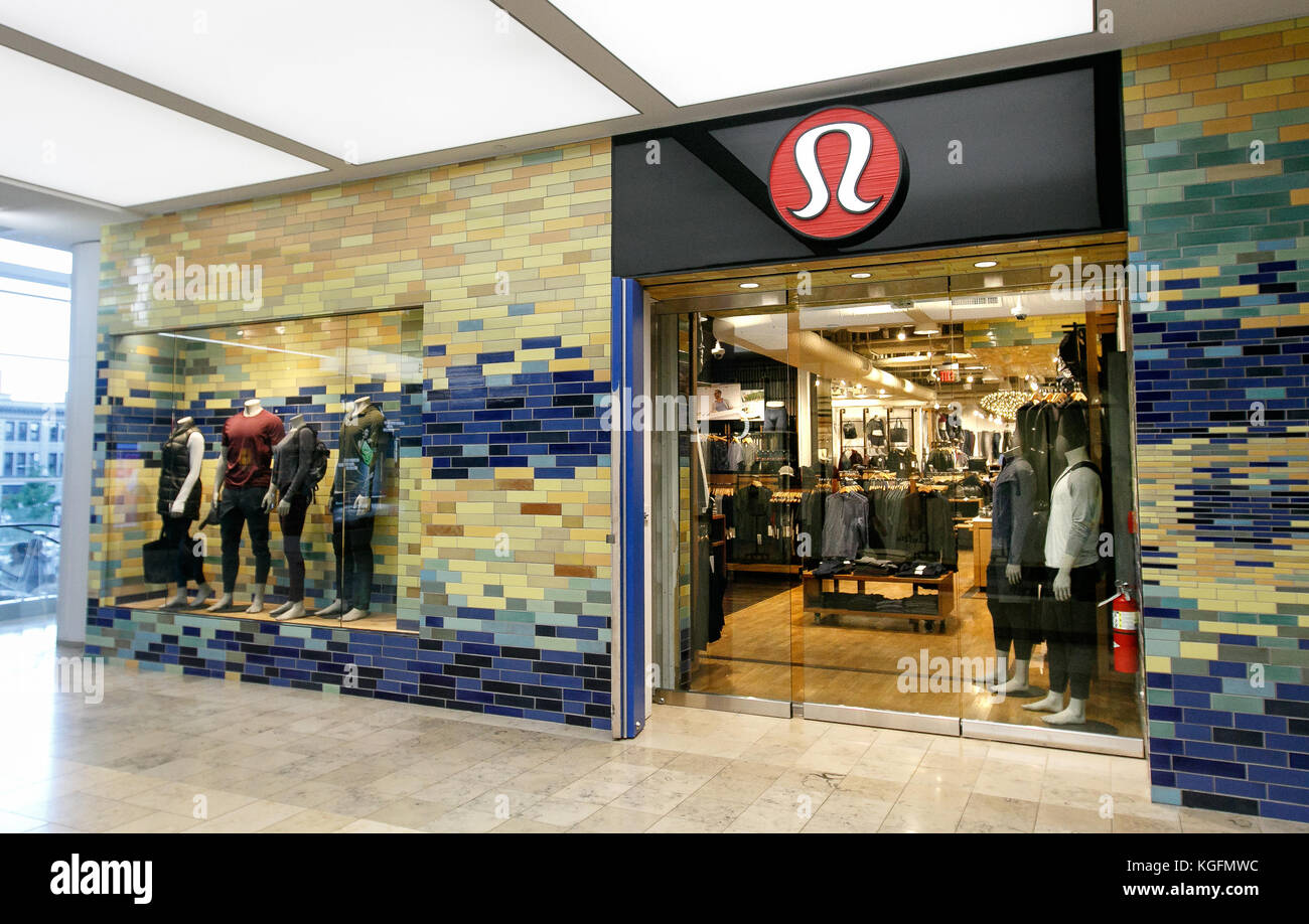 c826044868 Entrance to a Lululemon store inside Prudential Center in Boston. - Stock  Image