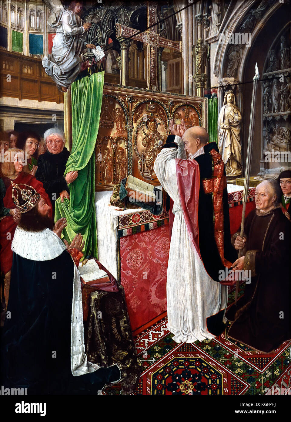 The Mass of Saint Giles 1500, Master of Saint Giles France French ( The miracle depicted has been set before the - Stock Image