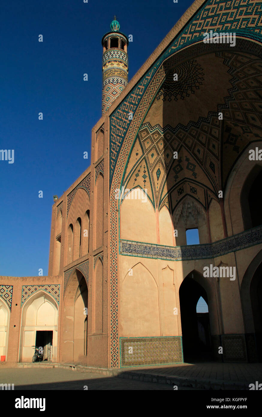 Details of Agha Bozorg mosque in Kashan, Iran - Stock Image