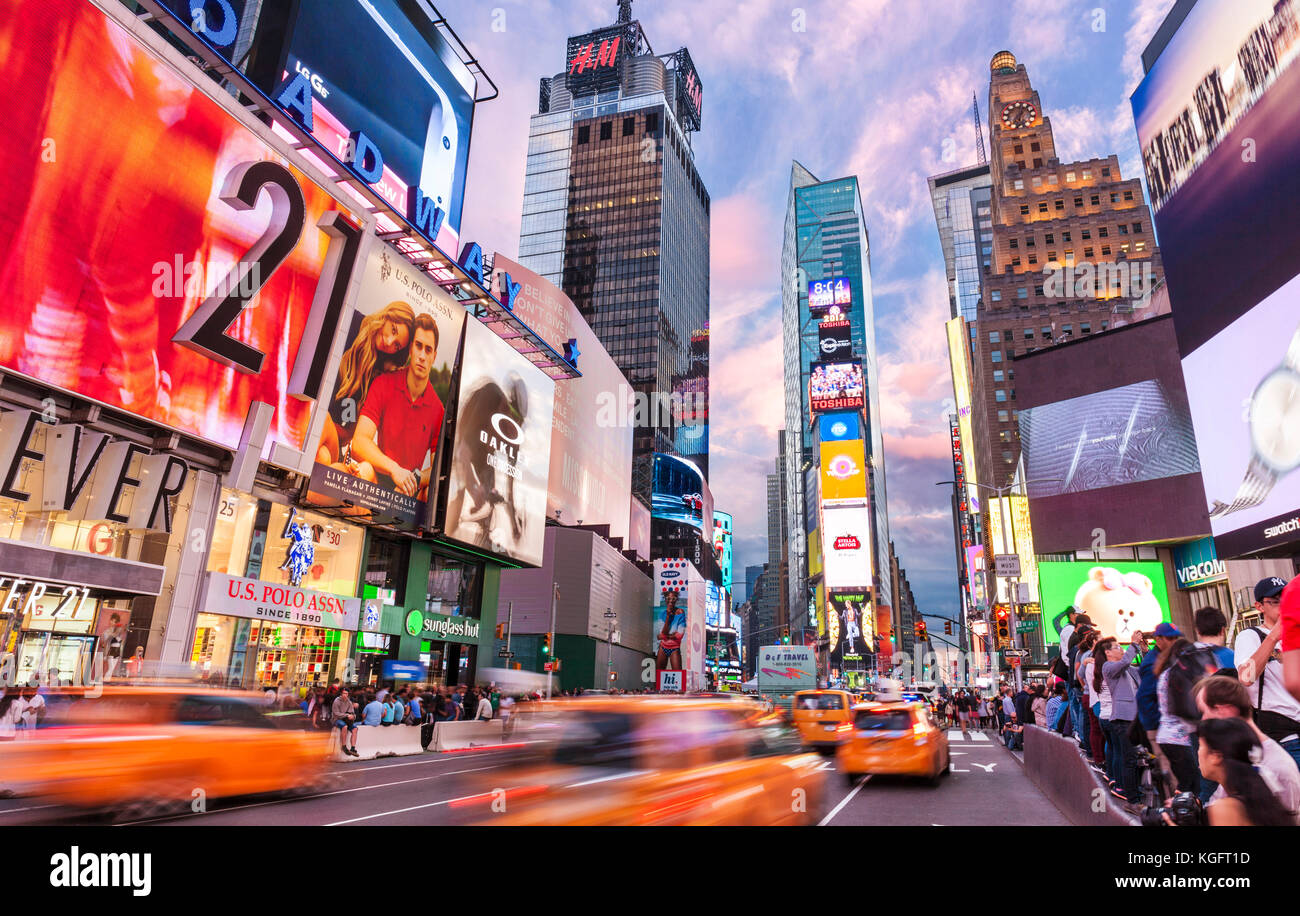New york usa new york times square NEW YORK CITY USA - Stock Image