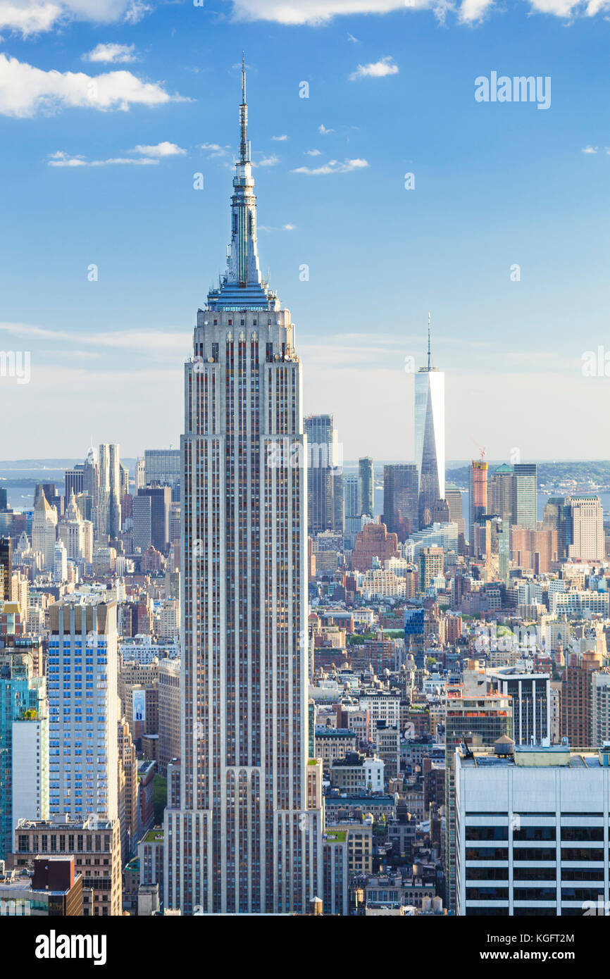 New york usa new york new york skyline manhattan skyline empire state building midtown mahattan new york city new - Stock Image