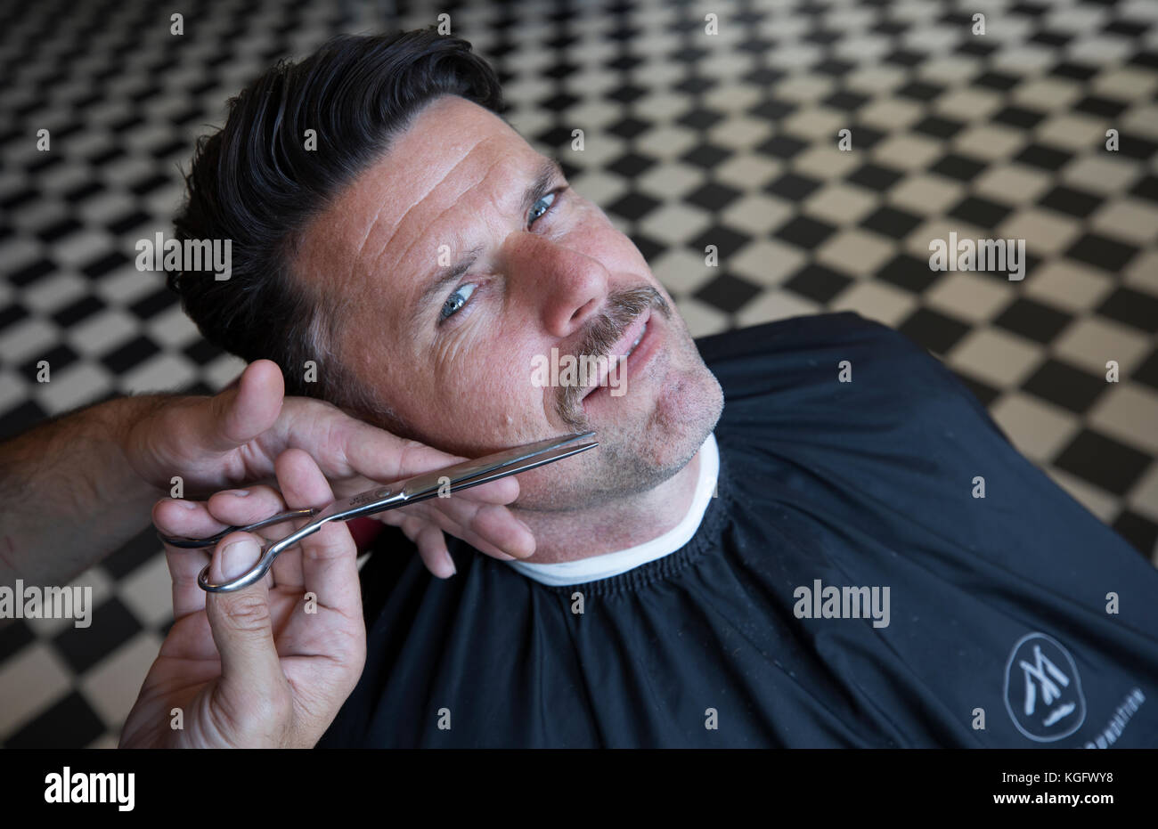 Adam Garone co founder of Movember Foundation at their office in Culver City Los Angeles - Stock Image