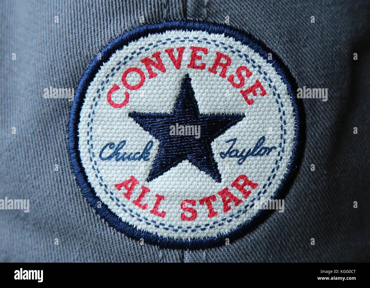 Converse All Star Chuck Taylor Baseball Cap embroided badge on a baseball  cap. - Stock 657738b7ff5