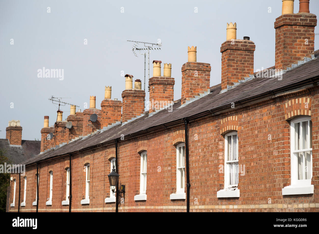 UK, Chester, identicle rooftops and houses. - Stock Image