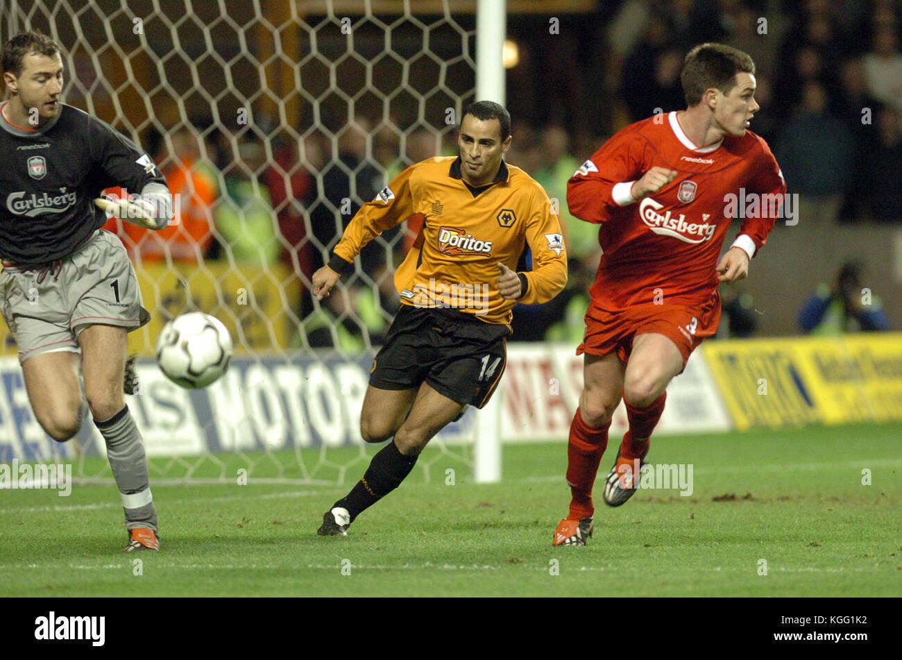 Footballer Jorge Silas Wolverhampton Wanderers v Liverpool 21 January 2004 - Stock Image