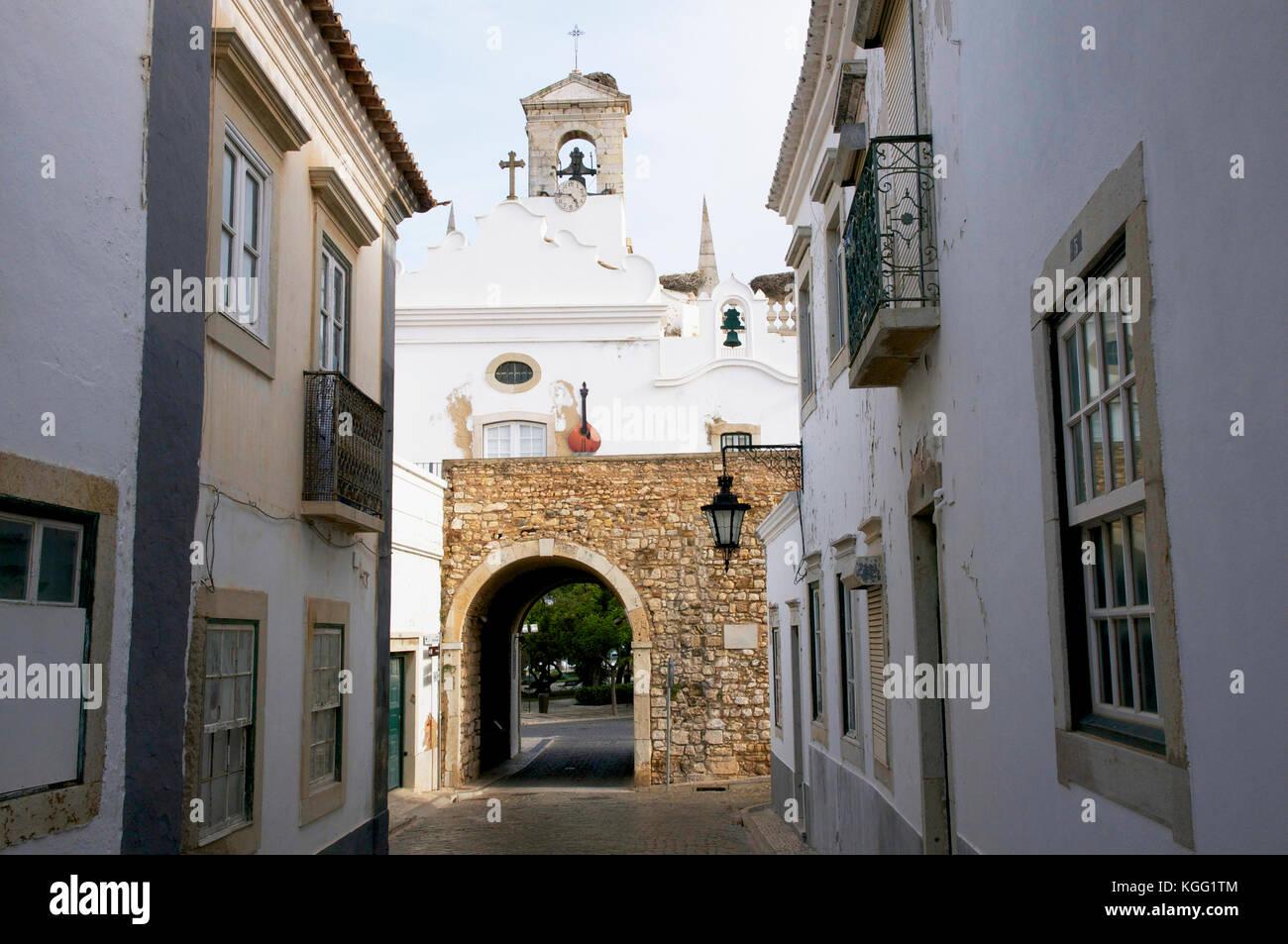 Rua do Municipio, Faro - Stock Image