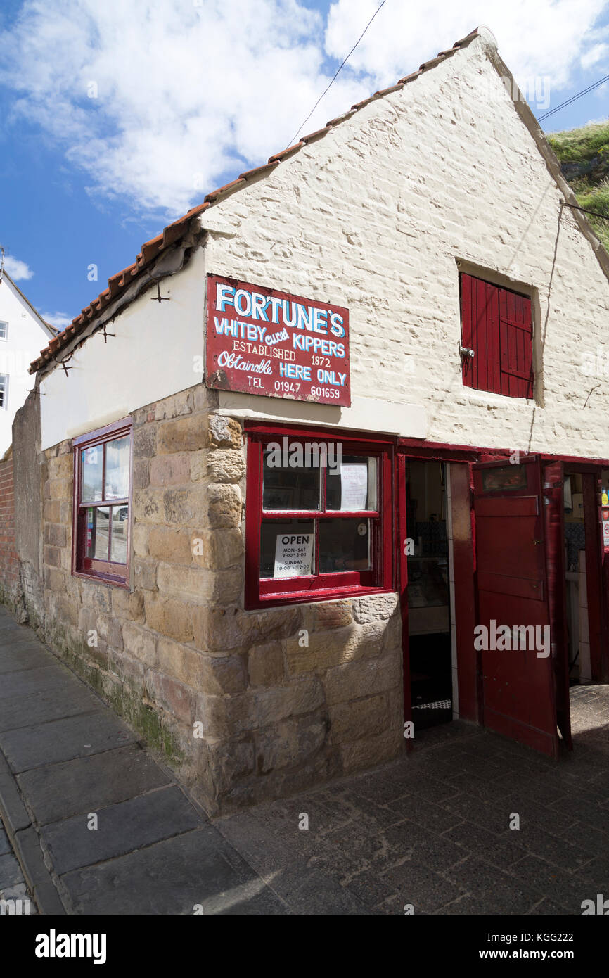 Whitby, Yorkshire, traditional kipper smoke house. - Stock Image