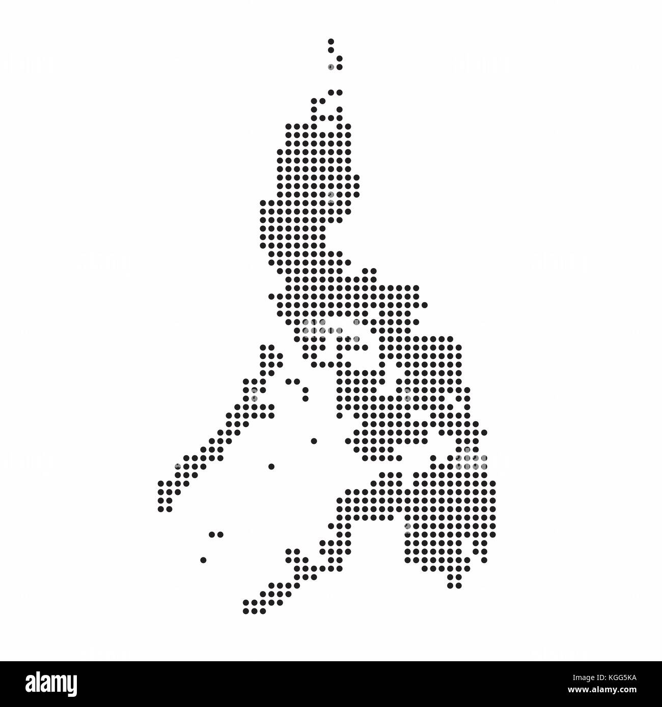 Philippines Map Black And White.Map Of The Philippines Black And White Stock Photos Images Alamy