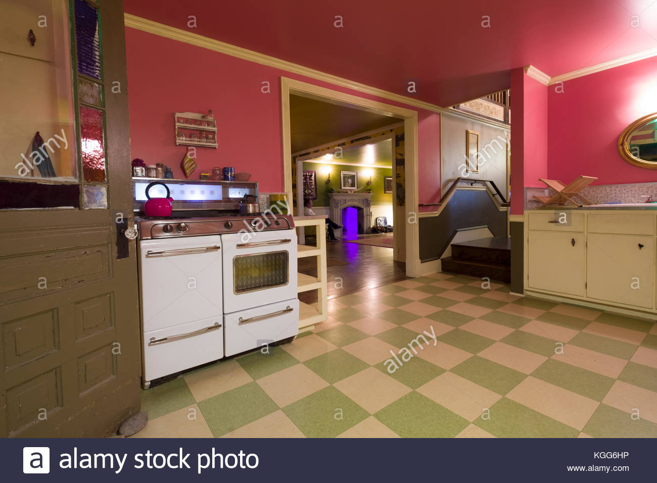 Kitchen Inside The House Of Eternal Return At Meow Wolf Santa Fe Stock Photo Alamy