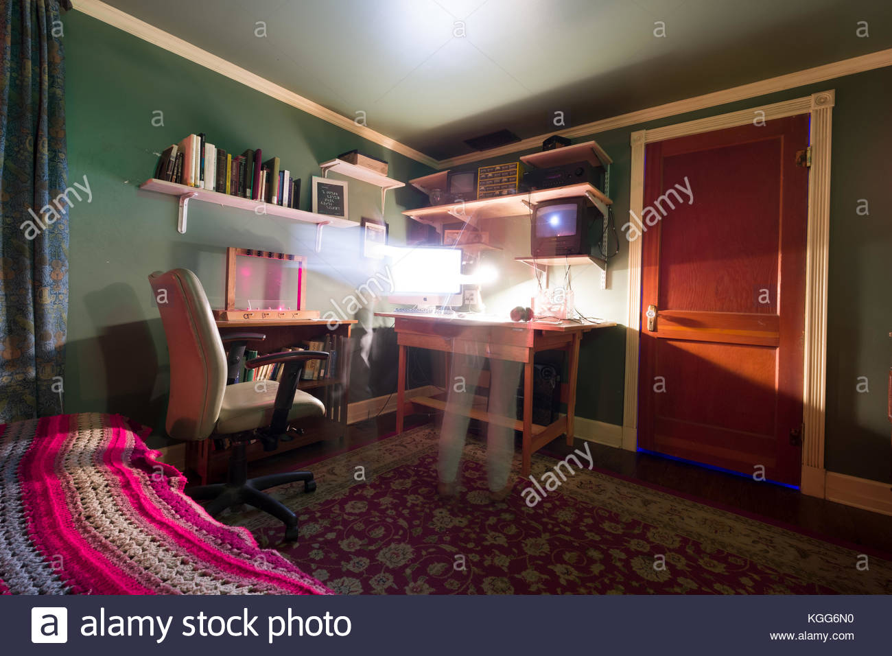 Bedroom Inside The House Of Eternal Return At Meow Wolf Santa Fe Stock Photo Alamy