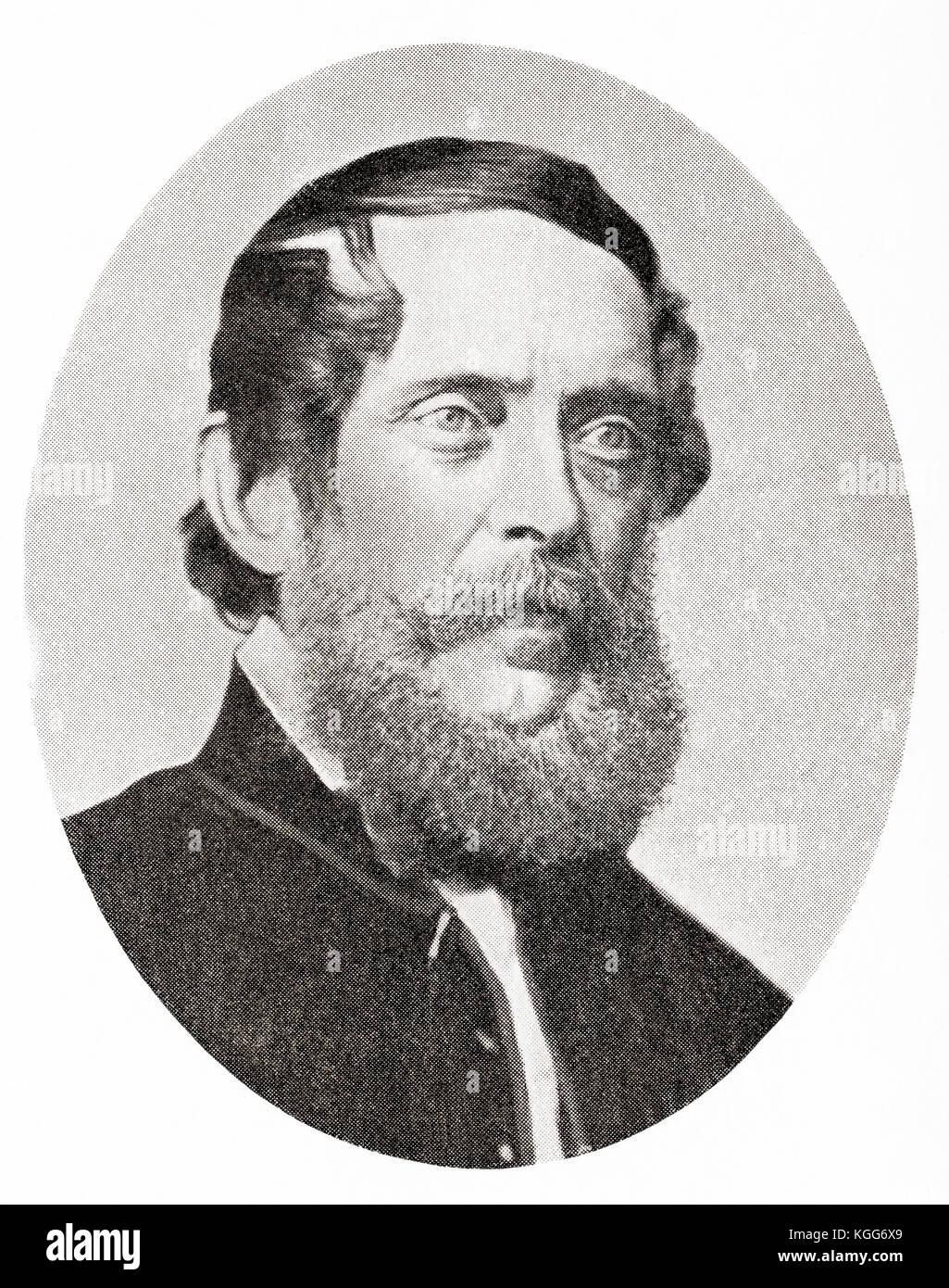 Lajos Kossuth de Udvard et Kossuthfalva aka Louis Kossuth, 1802 –  1894.  Hungarian lawyer, journalist, politician, Stock Photo