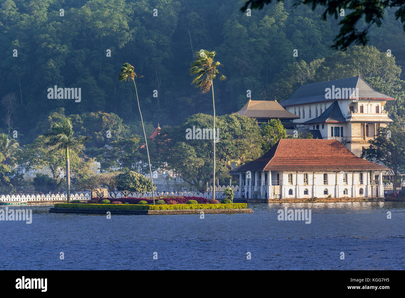 Temple of the Sacred Tooth Relic, Kandy, Sri Lanka - Stock Image