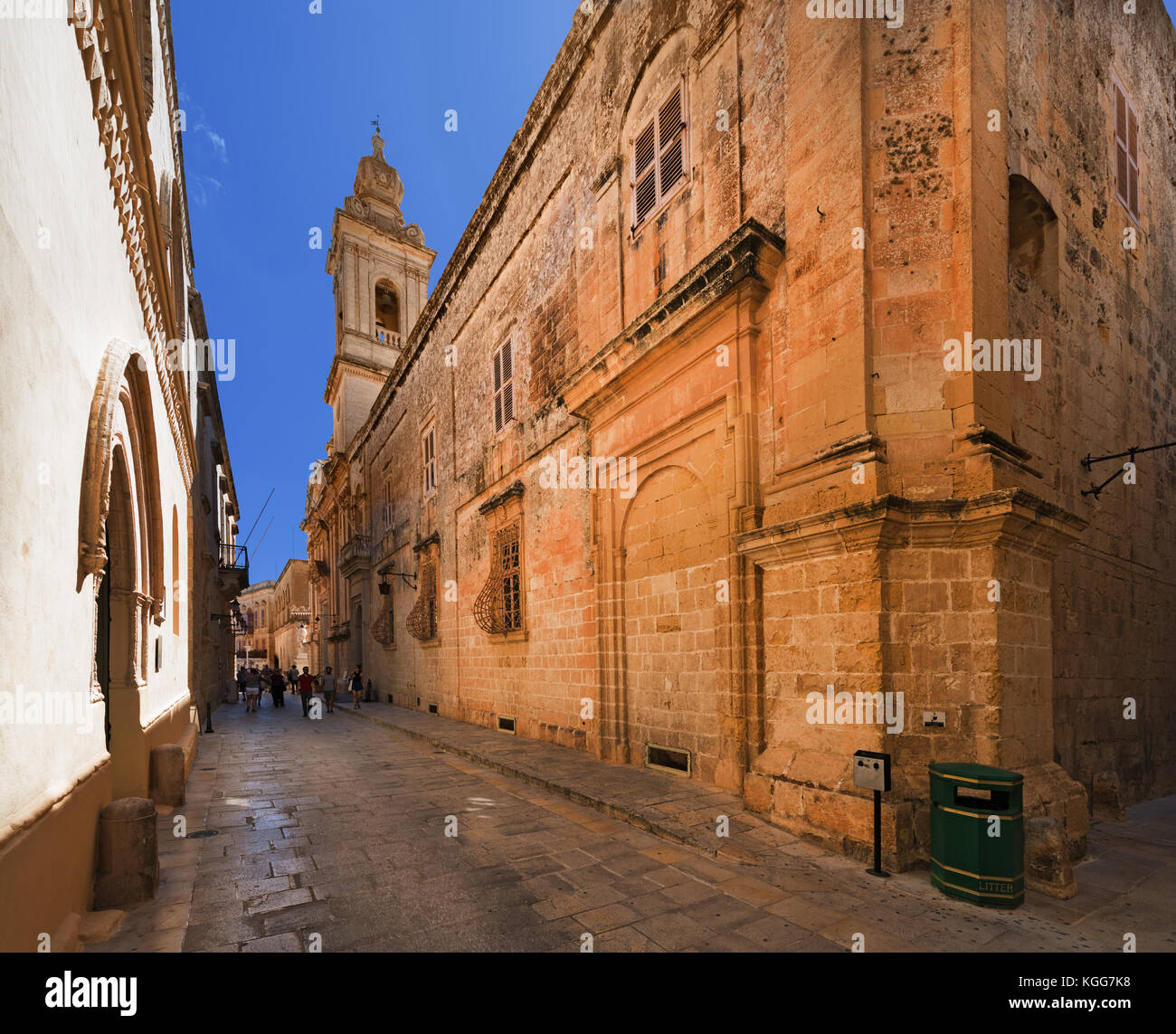 Streat in Mdina (Malta) - Stock Image