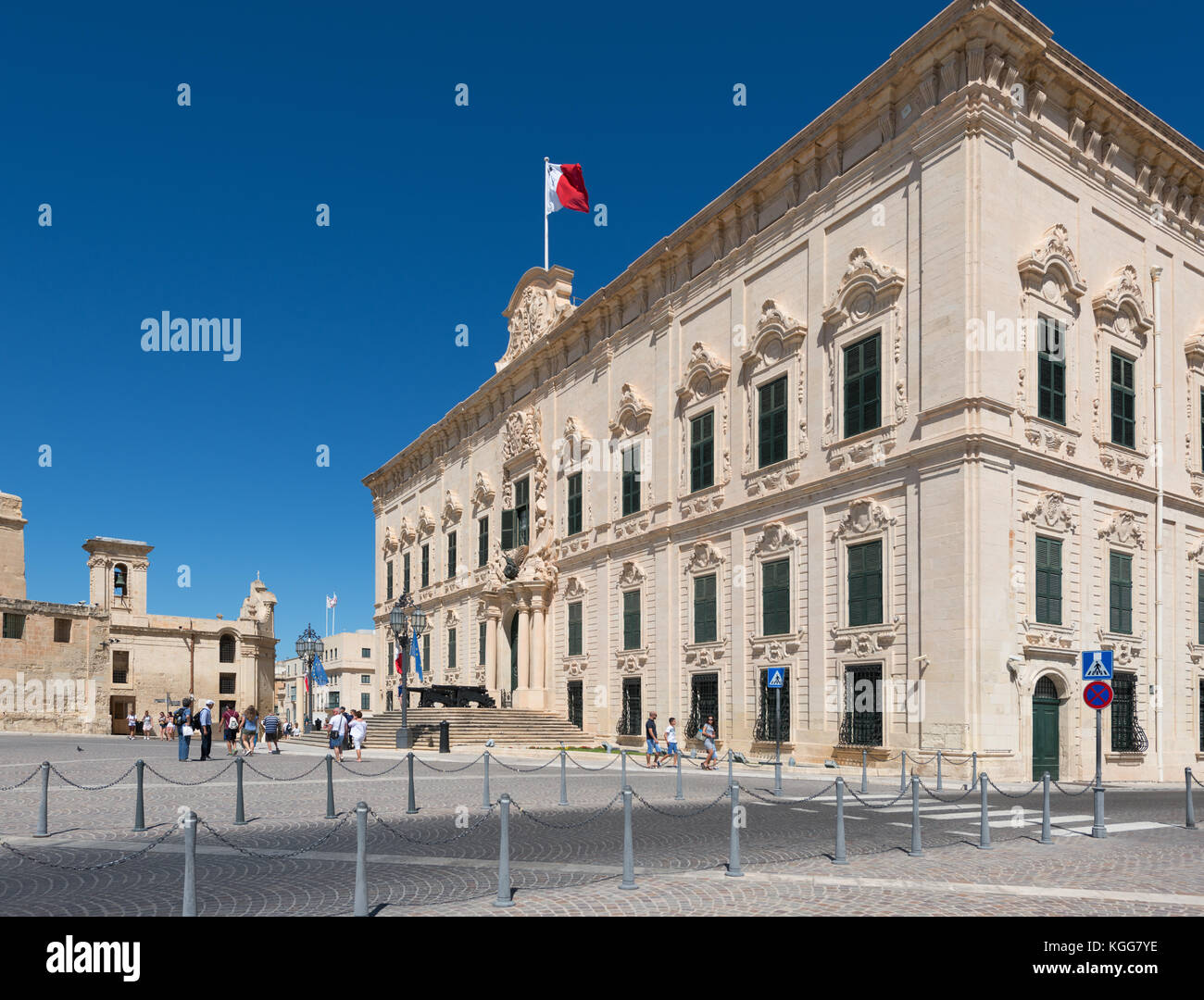 Auberge de Castille, Office of the Prime Minister of Malta. Castille square - Stock Image