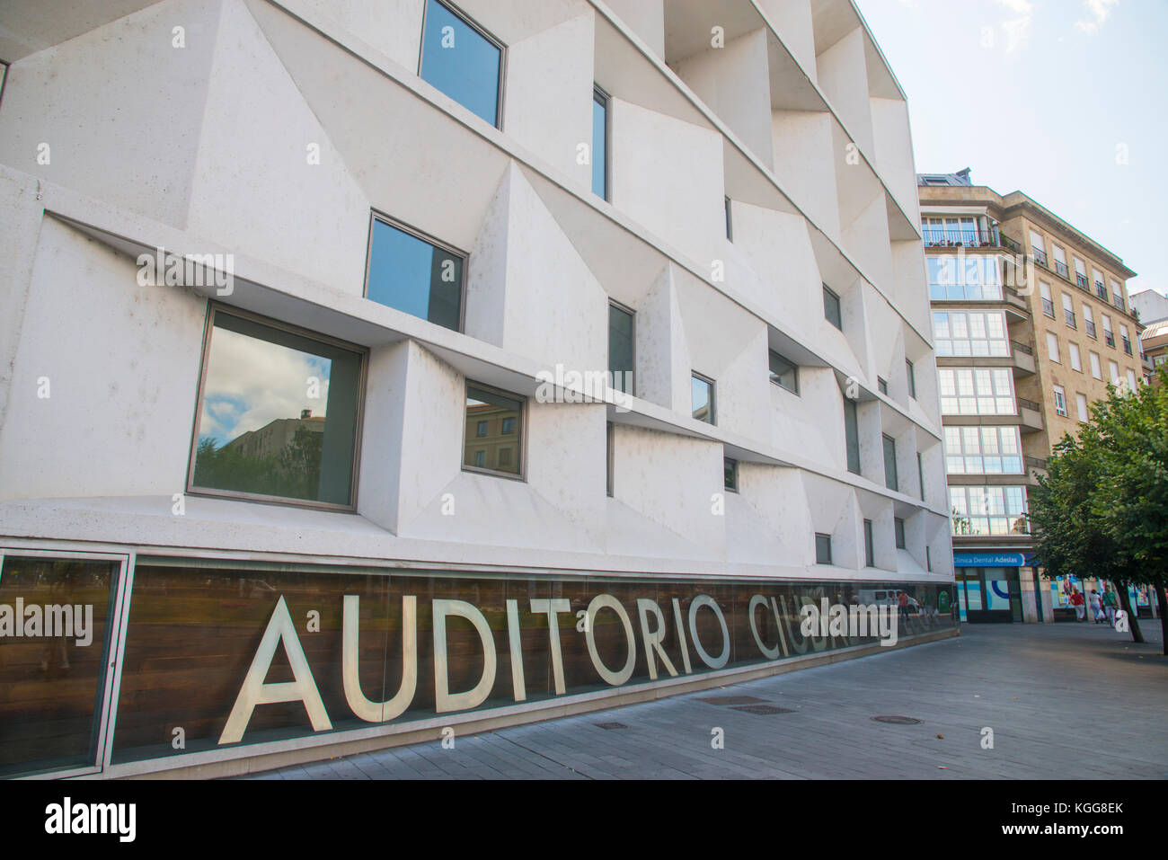 Facade of Ciudad de Leon Auditorium. Leon, Spain. - Stock Image