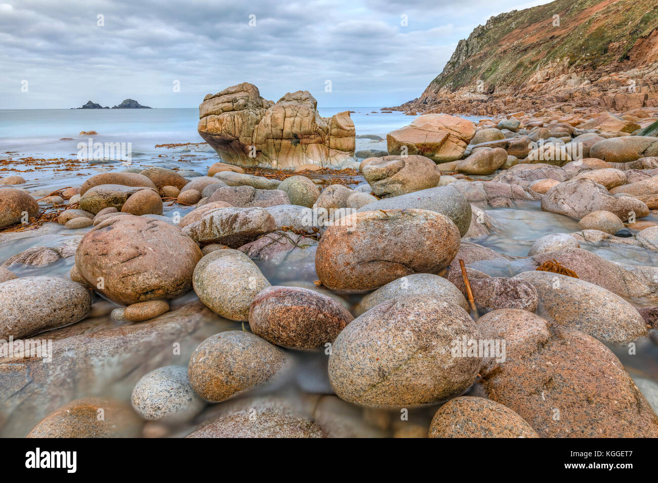 Porth Nanven, Cornwall, England, United Kingdom - Stock Image
