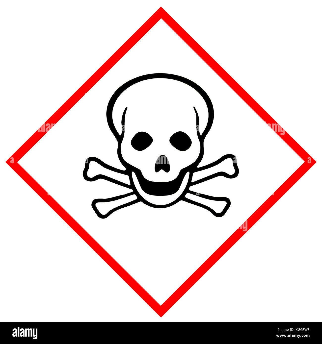 Acute toxicity (Symbol: Skull and crossbones) - Stock Image