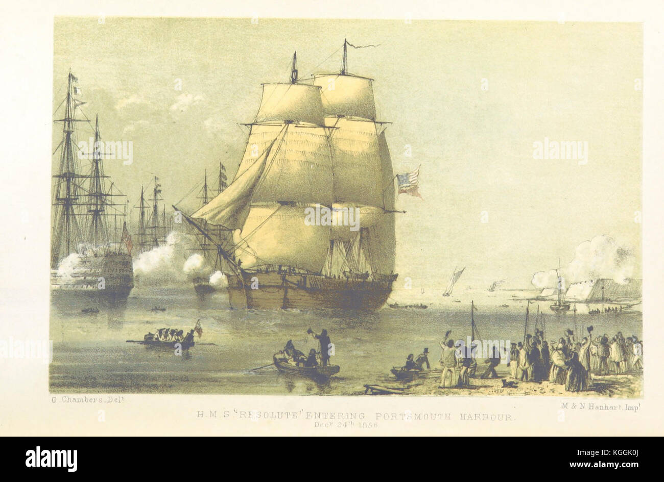 historic drawing vintage image of old sailing ships h m discovery