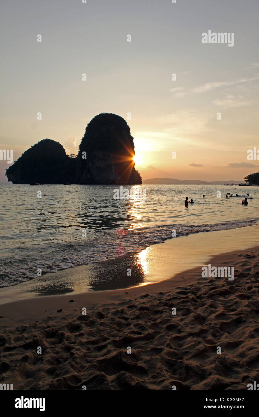 Sunset over Krabi - Stock Image