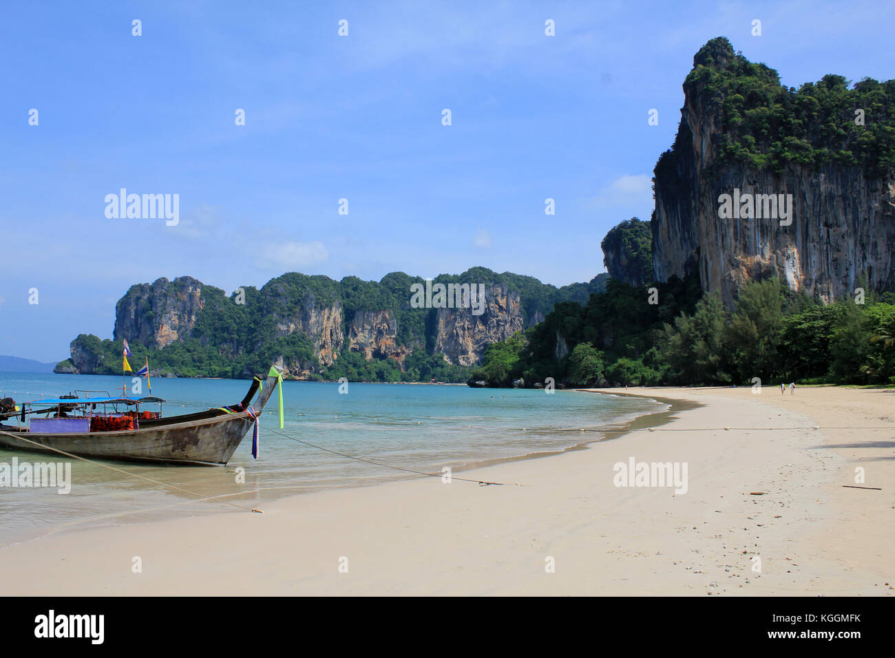 Beaches of Railay in Krabi, Thailand - Stock Image