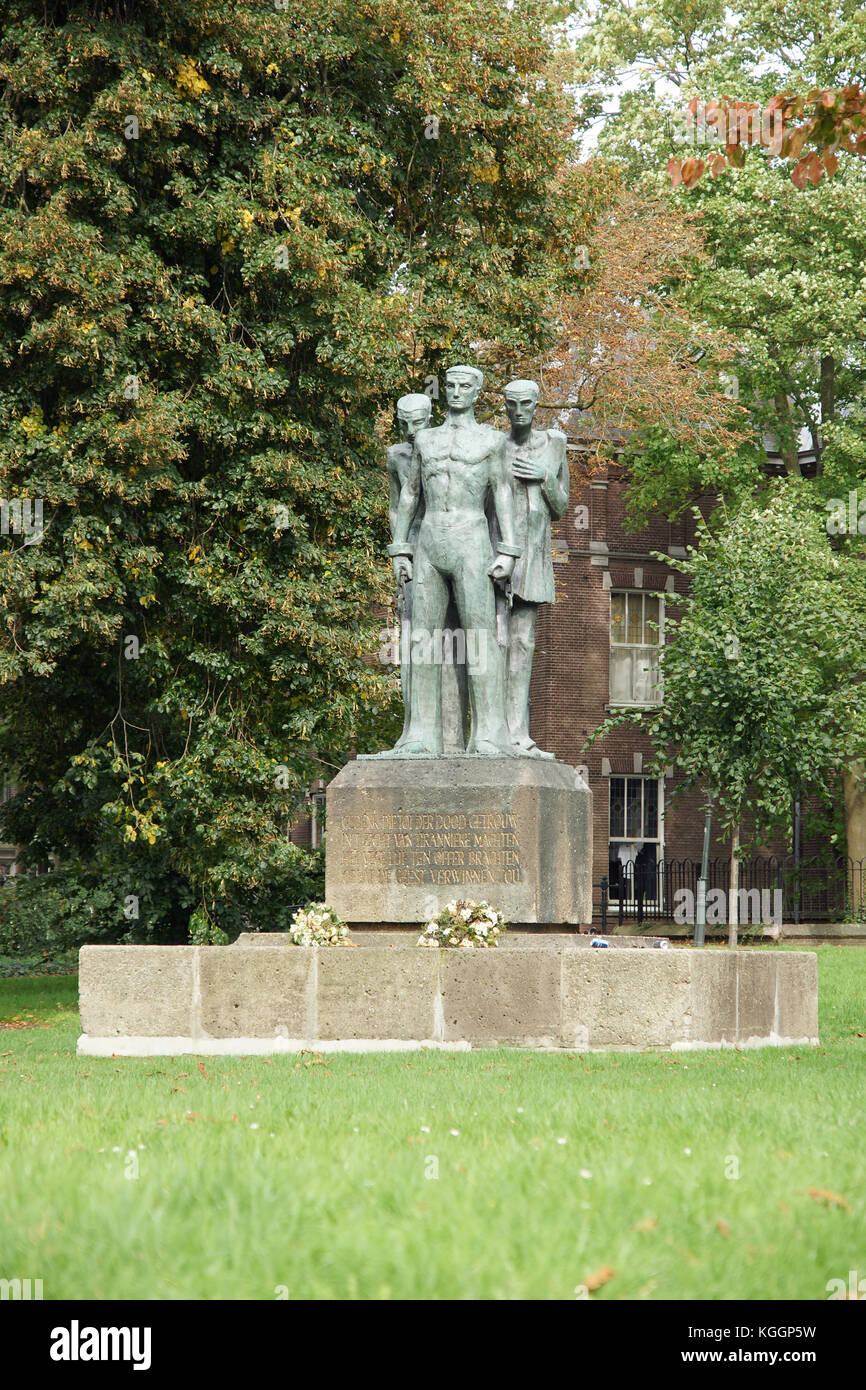 Statue called Till Tyrant Mighty is one of the many in S'Hertogensbosch, Netherlands - Stock Image