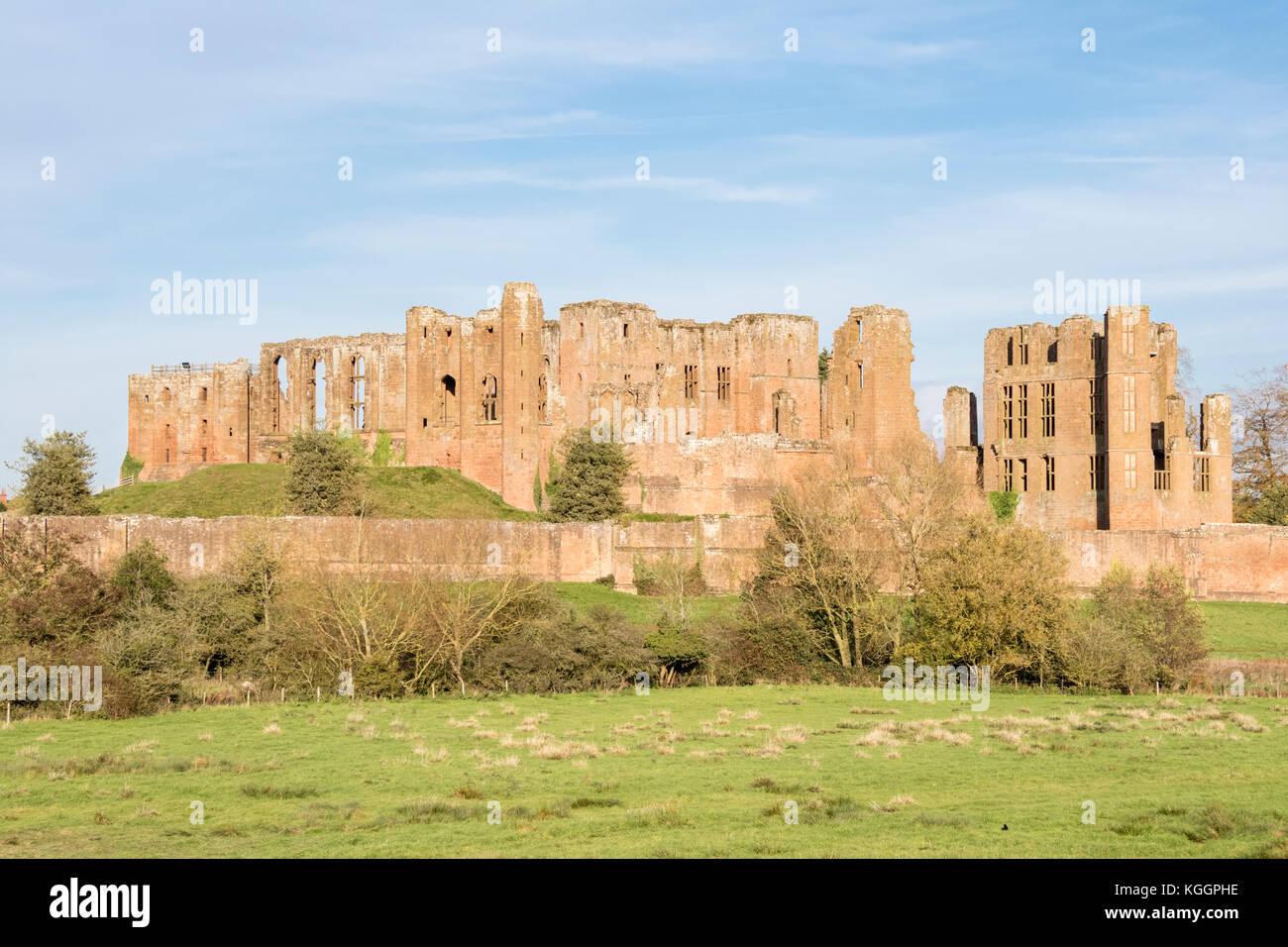Kenilworth Castle, Kenilworth, Warwickshire, England, UK - Stock Image