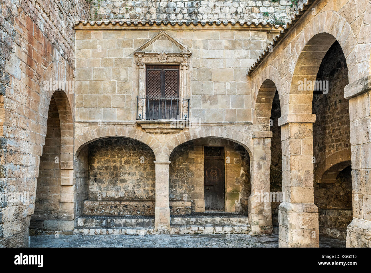 Fortified Ibiza Old Town, Dalt Vila,  Balearic Islands, Spain, Europe, - Stock Image