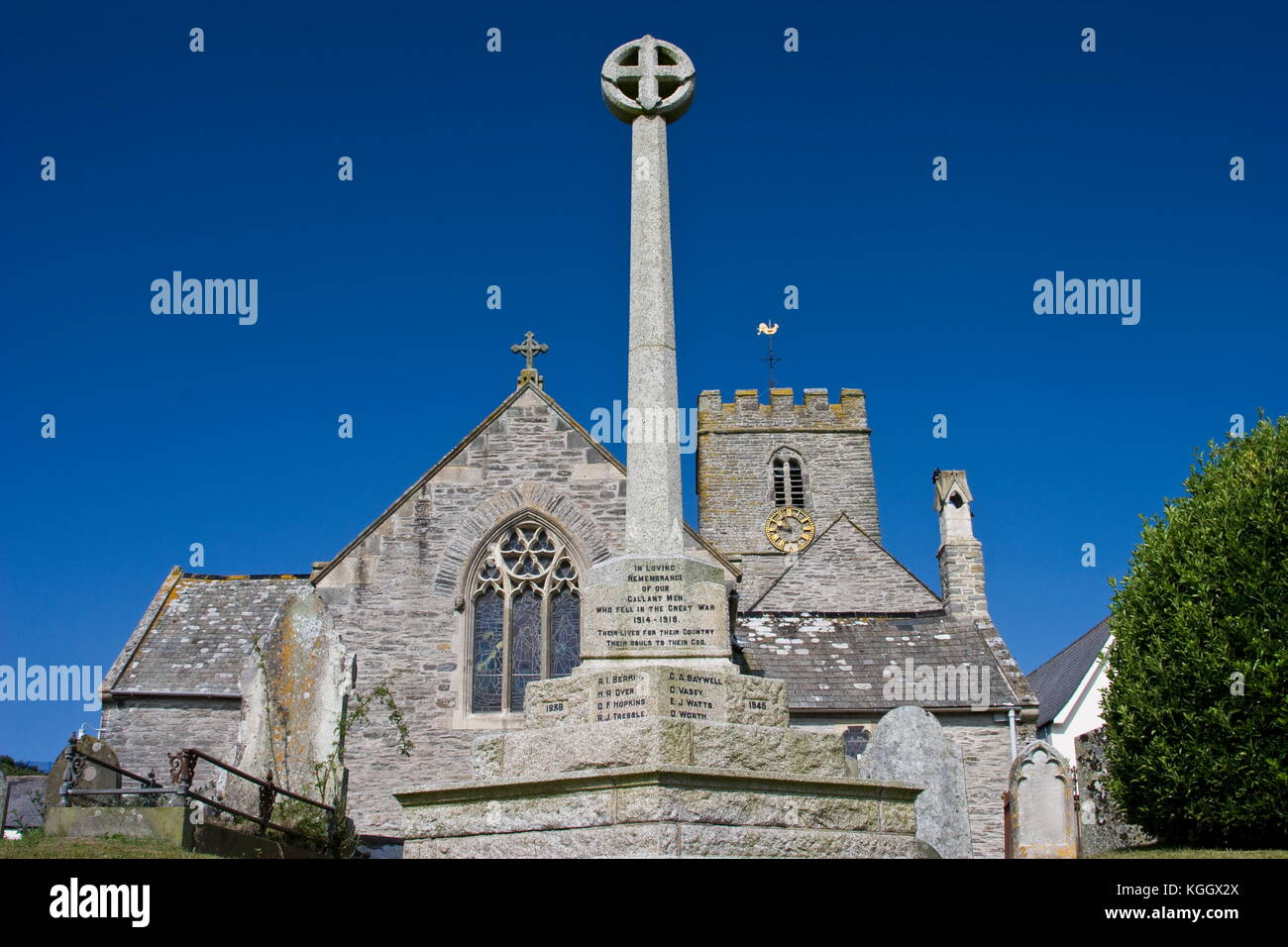 St Mary church,Morthoe,Devon - Stock Image