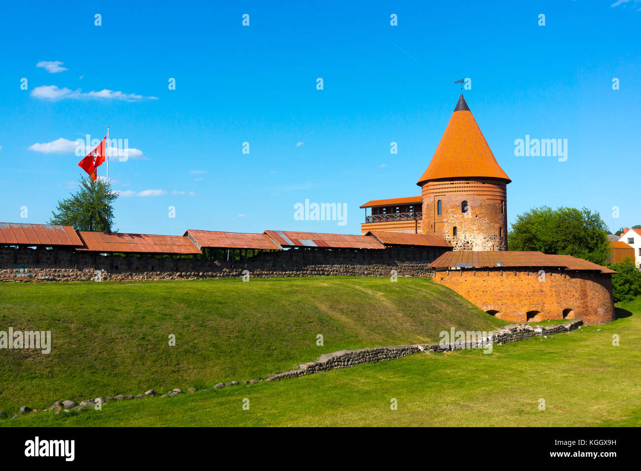 The medieval castle in Kaunas - Stock Image