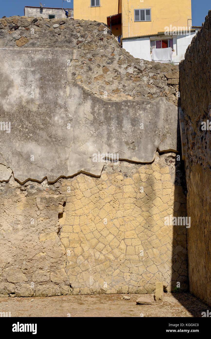 Ercolano walls - Stock Image