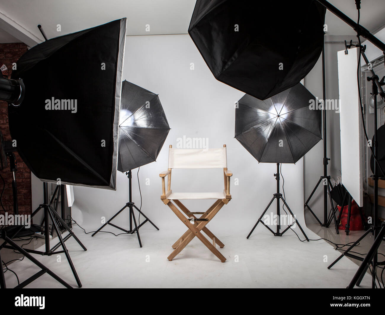 vector illustration stock set lighting online photography equipment