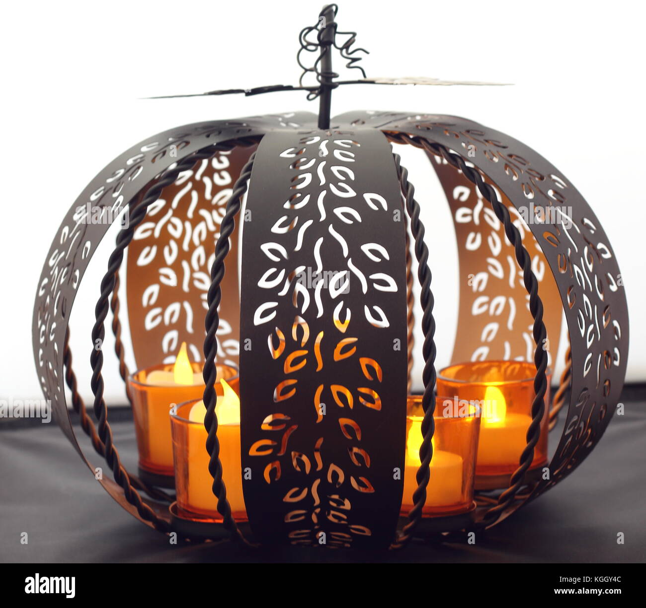 Black pumpkin - Stock Image