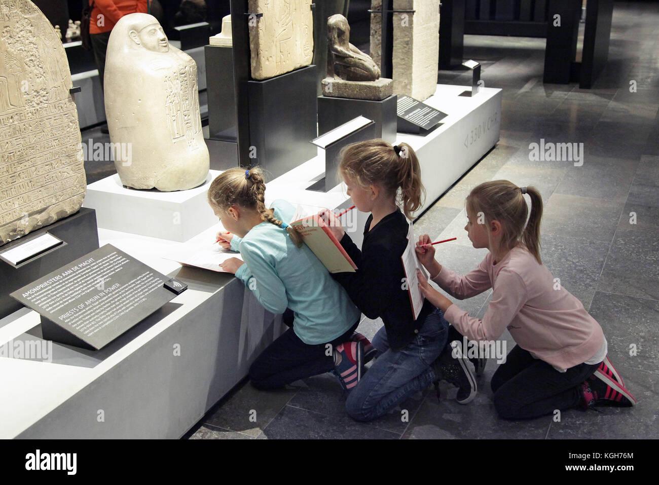Schoolchildren in a Museum - Stock Image